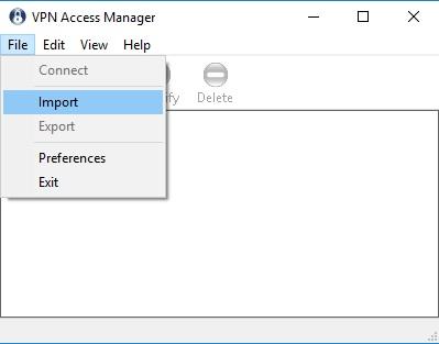 VPN Import