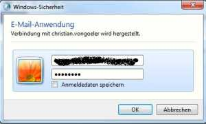 Windows Sicherheit Email Anwendung