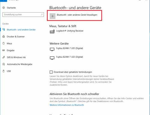 Windows 10 mit Bluetooth verbinden