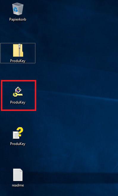 ProduKey exe Datei