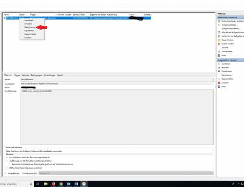 Windows 10 Task Host Window Meldung deaktivieren